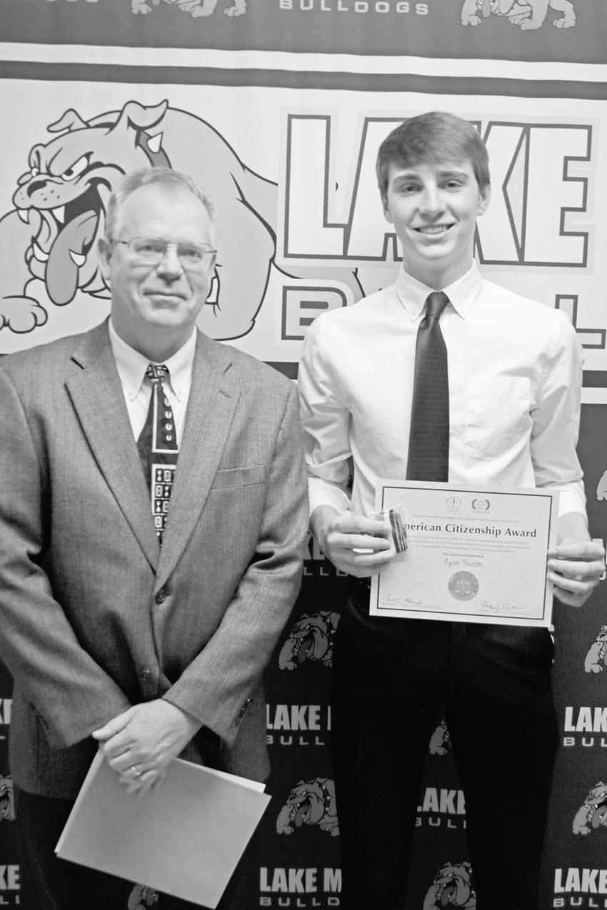 citizenship award–ia bar assn. &  Ohme Memorial Scholarship Ryan Huston